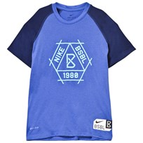 NIKE Blue Baseball Dry Tee COMET BLUE/BINARY BLUE