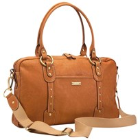 Storksak Elizabeth Leather Diaper Bag Tan Tan/Brown
