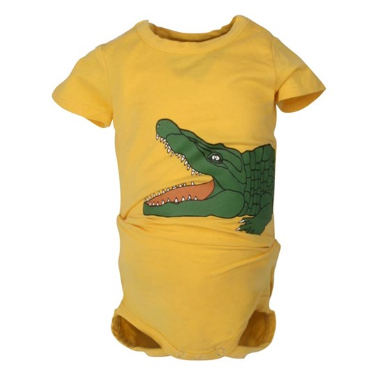 Mini Rodini S/S Body Crocodile Yellow Yellow