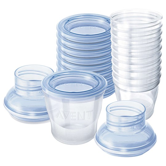 Philips Avent Breast Milk Storage Cups 10-Pack TRANSPARENT