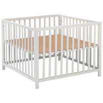 Baby Dan Felix Wooden Play Pen White Multi