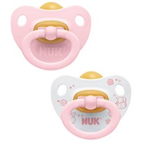 NUK Rose & Blue S1 (0-6m) Latex Pacifier 2-Pack Multi