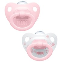 NUK Rose & Blue S1 (0-6m) Silicone Pacifier 2-Pack Multi