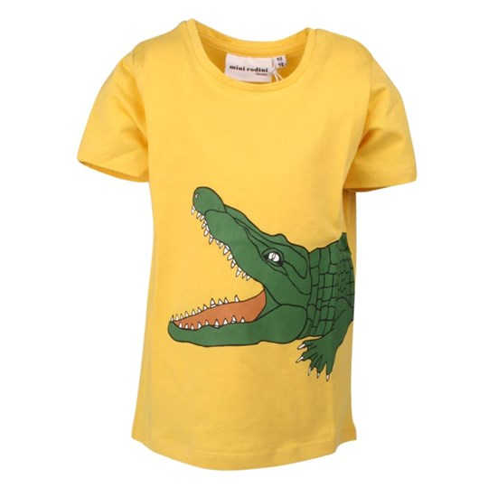 Mini Rodini S/S Tee Crocodile Yellow/Green Yellow
