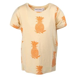 Mini Rodini S/S Tee Pineapple Beige/Orange