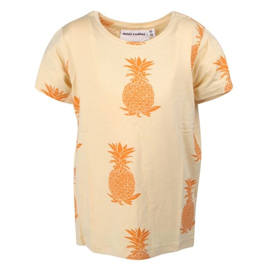 Mini Rodini S/S Tee Pineapple Beige/Orange Beige