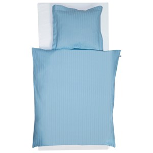 Image of Borås Cotton Blue Stripe Duvet cover and Pillowcase Set 65x80CM (2743809097)