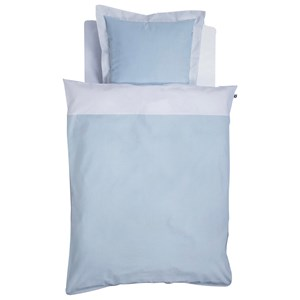 Image of Borås Cotton Blue and Cream Duvet Cover and Pillowcase Set 80x100CM (2743742235)
