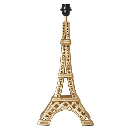 Rice Metal Eiffel Tower Table Lamp, Gold Gold