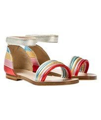 Chloé Multi Rainbow Leather Sandals Z41