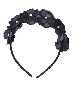 Mayoral Navy Flower and Pearl Headband