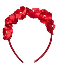 Mayoral Red Flower and Pearl Headband 77