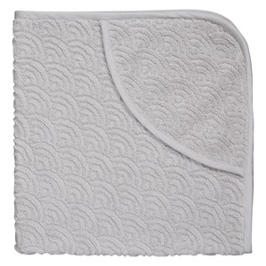 Cam Cam Organic Hooded Baby Towel Grey One Size