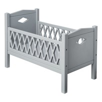 Cam Cam Harlequin Doll's Bed Grey Black