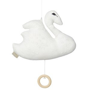 Image of Cam Cam Organic Swan Music Mobile Off White (2905268853)