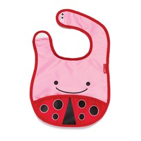 Skip Hop Zoo Tuck-Away Bib Ladybug Red