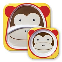 Skip Hop Zoo Melamine Tallrik Set Apa BROWN