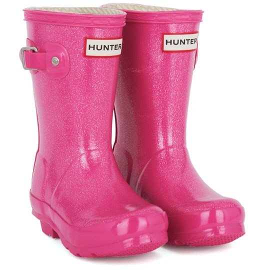 Hunter Orig Kids Glitter Fuschia Pink