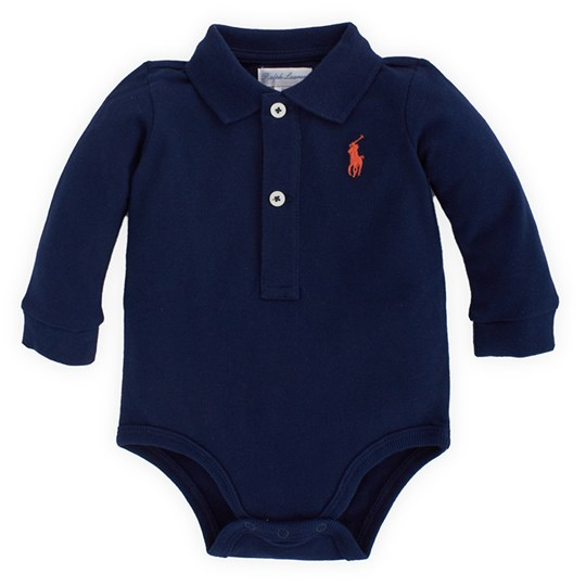 Ralph Lauren Piké Baby Body French Marinblå Blue