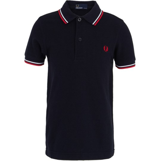 Fred Perry Kids Shirt Navy/White Blue