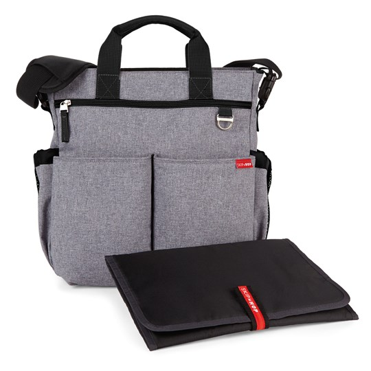 Skip Hop Duo Signature Diaper Bag Heather Grey Black