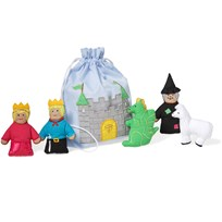 Story Bag With Finger Dolls Castle