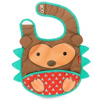 Skip Hop Zoo Tuck-Away Bib Hedgehog Multi