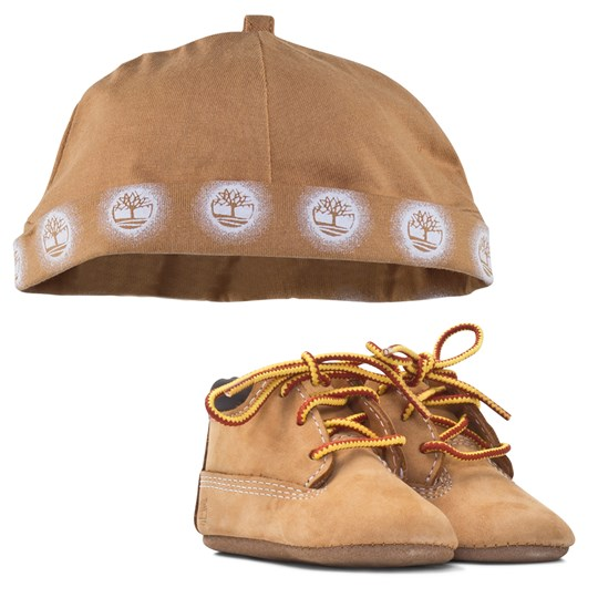 Timberland Crib Bootie With Hat Wheat Brun BROWN