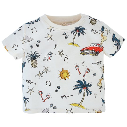 Stella McCartney Kids Chuckle T Shirt  Aop 50´S White Pr