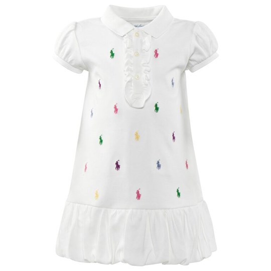 Ralph Lauren Schiffli Polo Dress White White