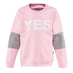 The BRAND Yes Sweater Babypink/Grey Mel