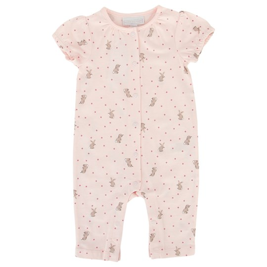 The Little White Company Pale Pink Baby Bunny Babygrow Rosa