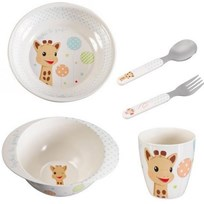 Sophie The Giraffe Meal Time Set White