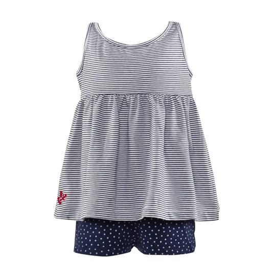 Ralph Lauren Tank Set Navy/White Sand