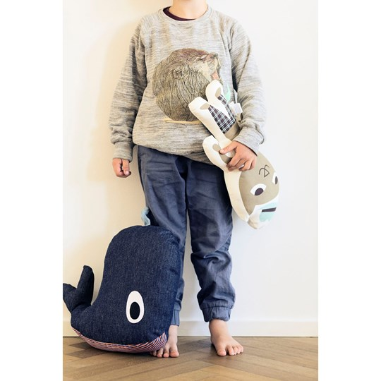 ferm LIVING Whale Cushion Grey
