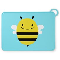Skip Hop Zoo Fold & Go Silicone Placemat Bee пестрый