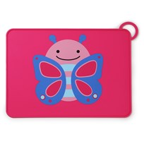 Skip Hop Zoo Fold & Go Silicone Placemat Butterfly Multi