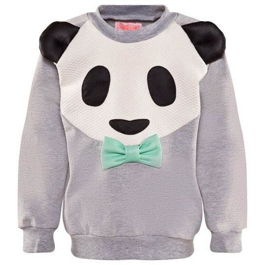 Wauw Capow Panda Power Sweatshirt Grey Melange Grey