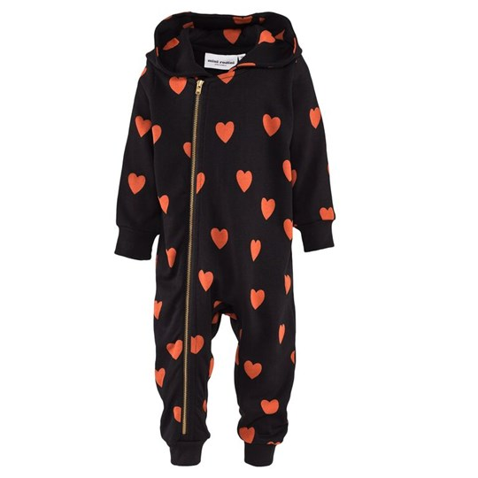 Mini Rodini Love AOP Onesie Black Black