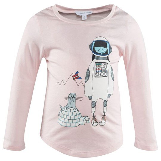 Little Marc Jacobs Long Sleeve T-Shirt Ice Pink Rosa