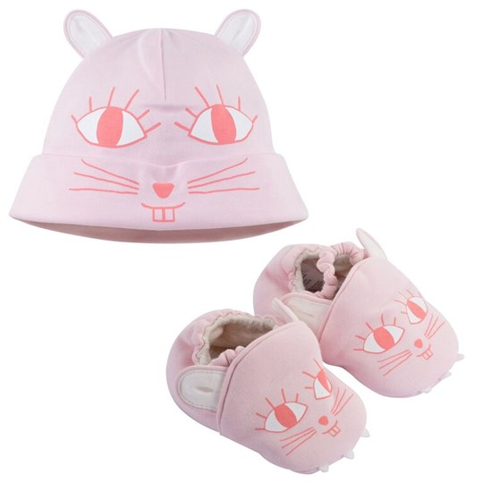 Little Marc Jacobs Pull On Hat+Slippers Set Ice Pink Rosa