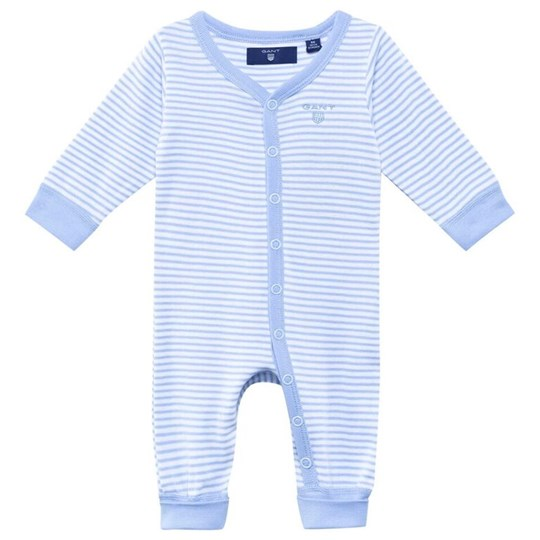 Gant N.B. Striped Coverall Sea Blue Blue