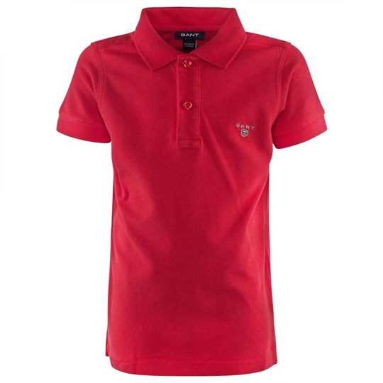 Gant Solid SS Pique Red Punainen