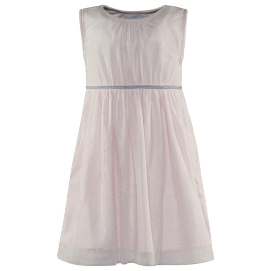 The Little White Company Pale Pink Sl Tutu Dress W Lurex Silver Waist Detail Lyserød