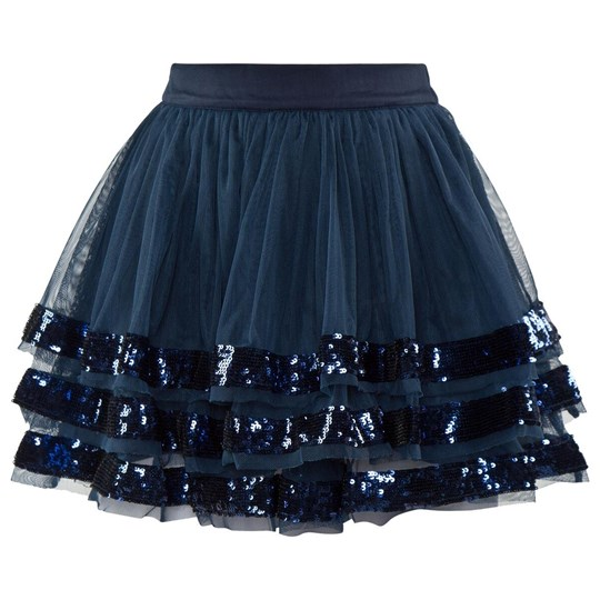 The Little White Company Navy Tulle Layered Sequin Tutu Blue
