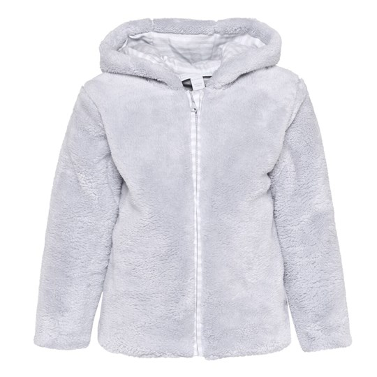 The Little White Company Grey Fleece Jacket W Hood And Ears Grå