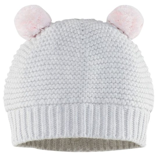 The Little White Company Chunky Pom Pom Hat Beige
