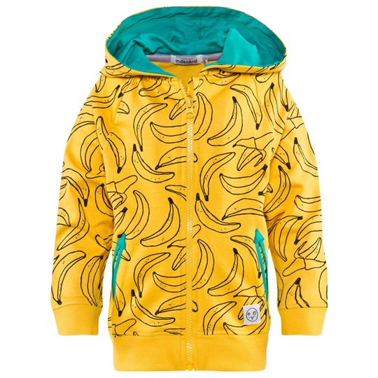 Indikidual Yellow Banana Print Hoodie Yellow