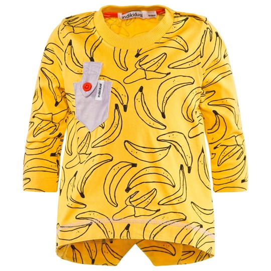 Indikidual Yellow Banana Print Tee Yellow