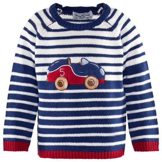 Mayoral Off White and Navy Stripe Jumper 34